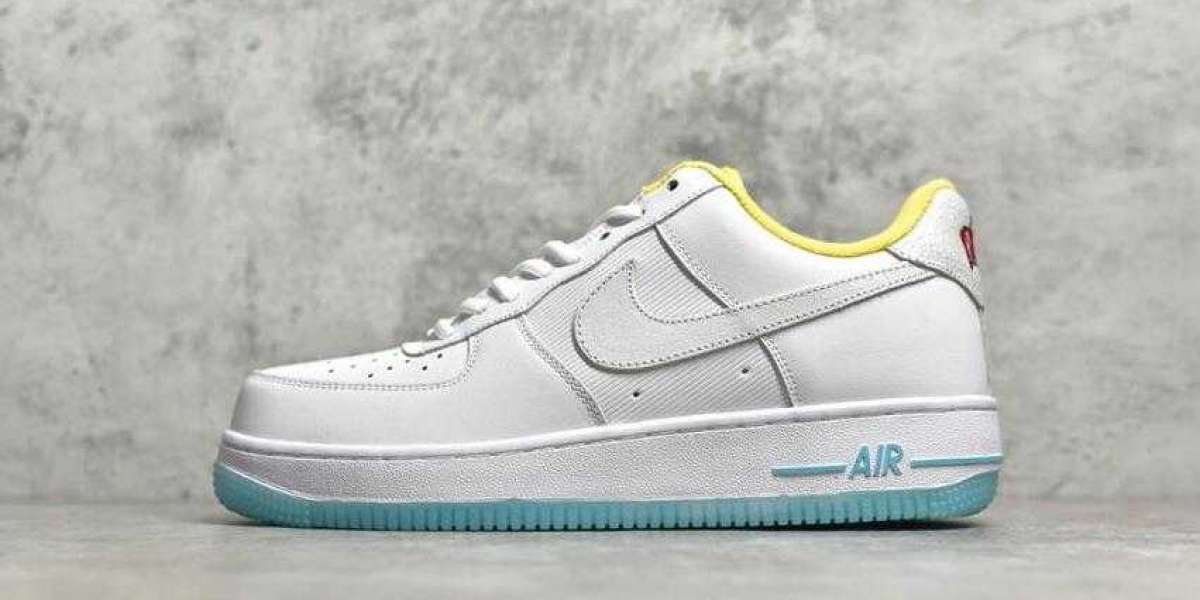 Buy Cheap Sale Nike Air Force 1 Low White Yellow-Clear Sport Shoes