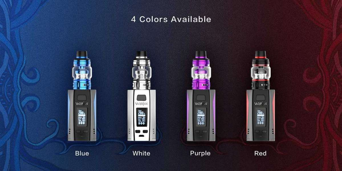 E-cigarettes can have various colors and styles