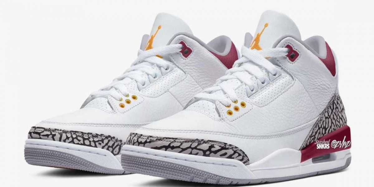 """Air Jordan 3 """"Cardinal"""" is expected to arrive in early 2022"""